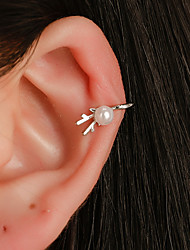 cheap -Women's Clip on Earring Ear Cuff Earrings Jewelry Silver For Daily Street Holiday Club Festival 1 Pair