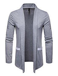 cheap -Men's Solid Colored Cardigan Sweater Jumper Black / Light gray / White M / L / XL