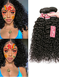 cheap -4 Bundles Brazilian Hair Kinky Curly 100% Remy Hair Weave Bundles 200 g Headpiece Natural Color Hair Weaves / Hair Bulk Bundle Hair 8-28 inch Natural Color Human Hair Weaves Odor Free Safety Extender