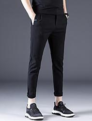 cheap -Men's Basic Chinos Pants - Solid Colored Classic Black Dark Gray Light gray 30 31 32