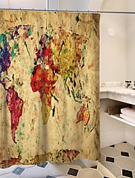 abordables -Rideaux de douche et anneaux Moderne Plastique / Polyester Imperméable / Créatif / Design nouveau
