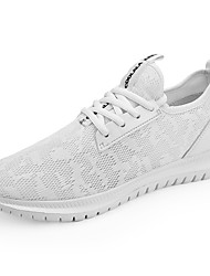 cheap -Unisex Light Soles Tissage Volant Spring & Summer Sporty Athletic Shoes Running Shoes Breathable Black / Black and White / White