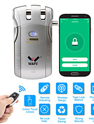 cheap -WAFU WIFI Remote Control Smart Invisible Security Door Lock App(iOS/Android System) Anti-theft Door Lock for Home Hotel Office Apartment with 433Mhz(WF-010W)