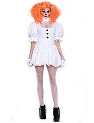 cheap -Vampire Dress Cosplay Costume Adults' Female Dresses Halloween Halloween Carnival Masquerade Festival / Holiday Terylene White Female Carnival Costumes Solid Colored