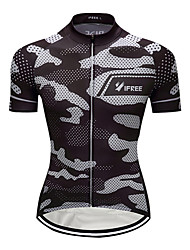 cheap -Men's Short Sleeve Cycling Jersey Camouflage Camo / Camouflage Plus Size Bike Jersey Top Mountain Bike MTB Road Bike Cycling Breathable Quick Dry Sports Clothing Apparel / Stretchy