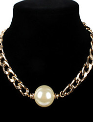 cheap -Women's Necklace Chunky Imitation Pearl Gold 54 cm Necklace Jewelry 1pc For Daily School Street Holiday Festival