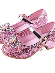 cheap -Girls' Comfort / Flower Girl Shoes Synthetics Heels Toddler(9m-4ys) / Little Kids(4-7ys) / Big Kids(7years +) Sequin / Buckle Silver / Red / Pink Spring / Summer / Party & Evening / Rubber