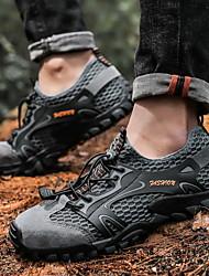 cheap -Men's Hiking Shoes Wearable Breathable Comfortable Non Slip Camping / Hiking Hunting Fishing Spring Summer Black Grey Khaki Brown
