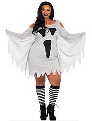 cheap -Bat Cosplay Costume Adults' Female Cosplay Halloween Halloween Carnival Masquerade Festival / Holiday Polyster Gray Female Carnival Costumes Patterned
