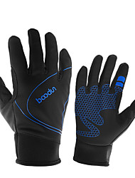 cheap -BOODUN Winter Bike Gloves / Cycling Gloves Mountain Bike MTB Thermal / Warm Touch Screen Windproof Breathable Full Finger Gloves Touch Screen Gloves Sports Gloves Mesh Silicone Gel Black Fuchsia