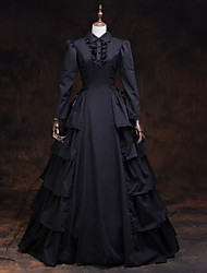 cheap -Fairytale Renaissance Dress Outfits Party Costume Masquerade Women's Costume Black Vintage Cosplay 3/4 Length Sleeve
