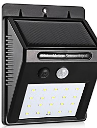cheap -1pc 0.55 W Solar Wall Light Waterproof / Solar / Motion Detection Monitor White 5.5 V Courtyard / Garden 20 LED Beads