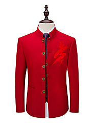 cheap -Tuxedos Standard Fit Mandarin Single Breasted More-button Polyester Graphic