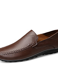 cheap -Men's Leather Shoes Nappa Leather Fall / Spring & Summer Business / Casual Loafers & Slip-Ons Non-slipping Black / Brown / Coffee / Moccasin / Driving Shoes