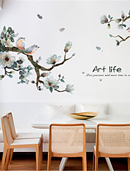 cheap -New Chinese ink and bird living room bedroom wallpaper self-adhesive TV background wall decorations corridor porch wall stickers