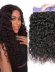 Недорогие -3 Связки Индийские волосы Волнистые Необработанные натуральные волосы 100% Remy Hair Weave Bundles 300 g Головные уборы Человека ткет Волосы Пучок волос 8-28 дюймовый Нейтральный / Лёгкие волны