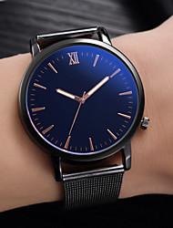 cheap -Men's Dress Watch Quartz Black No Casual Watch Cool Analog Casual Fashion - White Black Blue One Year Battery Life