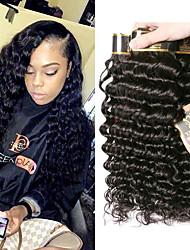 Недорогие -4 Связки Малазийские волосы Крупные кудри человеческие волосы Remy 200 g Человека ткет Волосы Удлинитель Пучок волос 8-28 дюймовый Естественный цвет Ткет человеческих волос / Без запаха