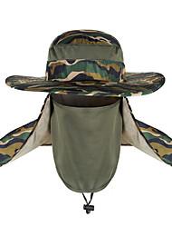 Недорогие -TCAHCC Шляпа для туризма и прогулок Кепка для туризма и прогулок Рыбалка Шляпа Кепка Защита от солнечных лучей Устойчивость к УФ Дышащий Защита от комаров камуфляж Нейлон Весна Лето для Муж.