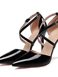 cheap -Women's Patent Leather Spring Heels Stiletto Heel Yellow / Pink / Almond