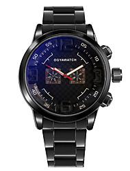 cheap -Men's Dress Watch Quartz Stainless Steel Black Casual Watch Analog Casual Outdoor - Black