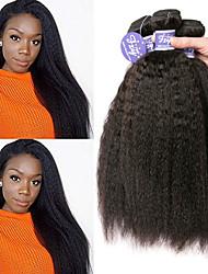 Недорогие -4 Связки Малазийские волосы Яки Вытянутые Необработанные натуральные волосы 100% Remy Hair Weave Bundles 200 g Головные уборы Человека ткет Волосы Пучок волос 8-28 дюймовый Естественный цвет