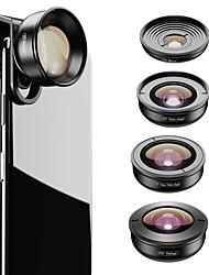cheap -Mobile Phone Lens Fish-Eye Lens / Long Focal Lens / Wide-Angle Lens Glasses / Aluminium Alloy 2X 37 mm 0.01 m 195 ° New Design / Cool