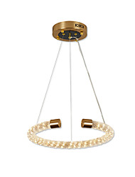 cheap -1-Light Ecolight 40 cm Crystal / Mini Style / New Design Chandelier Metal Circle / Crystal / Mini Antique Brass Chic & Modern / Traditional / Classic 110-120V / 220-240V