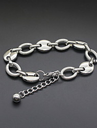 cheap -Women's Chain Bracelet Geometrical U Shape Statement Classic Trendy Fashion Titanium Steel Bracelet Jewelry Silver For Party Gift Daily Street