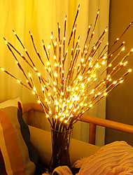 cheap -Artificial Plants LED Willow Tree Branch Lights 20 Bulbs Plastic Plants Wedding Decor for Home Fake Plants