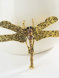 cheap -Women's Brooches Classic Wings Dragonfly Animal Cartoon Sweet Fashion Folk Style Brooch Jewelry Gold Silver For Graduation Gift Daily Carnival Festival