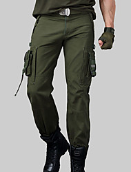 cheap -Men's Hiking Pants Hiking Cargo Pants Tactical Pants Outdoor Breathable Quick Dry Sweat-wicking Multi-Pocket Cotton Pants / Trousers Bottoms Climbing Camping / Hiking / Caving Black Army Green 27 28