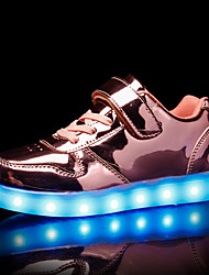 cheap -Boys USB Charging  LED / LED Shoes PU Sneakers Kids / Teenager Gold / Silver / Pink Fall / Rubber