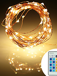 cheap -10m String Lights 100 LEDs SMD 0603 1 x 2A power adapter Warm White Cold White RGB Party Decorative Christmas Wedding Decoration 12 V 1 set