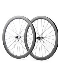 cheap -FARSPORTS 700CC Wheelsets Cycling 28 mm Road Bike Carbon Fiber Clincher / Tubeless Compatible 24/24 Spokes 45 mm