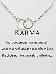 cheap -Women's Necklace Charm Necklace Simple Small Chrome Silver 52 cm Necklace Jewelry 1pc For Daily Holiday School Street Festival