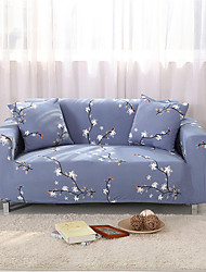cheap -Plum Blossom Print Dustproof Stretch Slipcovers Stretch Sofa Cover Super Soft Fabric Couch Cover (You will Get 1 Throw Pillow Case as free Gift)