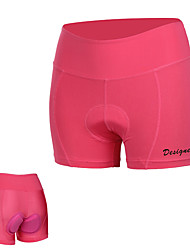 cheap -Mountainpeak Women's Cycling Under Shorts Bike Underwear Shorts Padded Shorts / Chamois Breathable Sports Solid Colored Rose Red Mountain Bike MTB Road Bike Cycling Clothing Apparel Form Fit Bike Wear