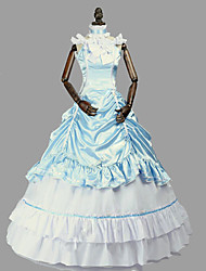cheap -Princess Rococo Victorian Dress Party Costume Costume Women's Cotton Costume LightBlue Vintage Cosplay Masquerade Party & Evening Sleeveless Floor Length Long Length Plus Size