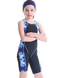 cheap -Girls' One Piece Swimsuit Swimwear Bodysuit Quick Dry Boyleg - Swimming Geometic Fashion / Kids