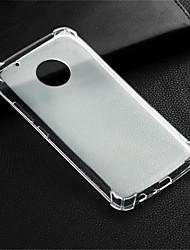 Недорогие -Кейс для Назначение Motorola Мото G5 Plus / Moto G5 Защита от удара / Прозрачный Кейс на заднюю панель Прозрачный Мягкий ТПУ