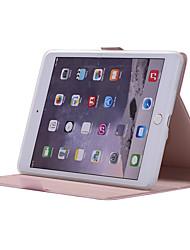 cheap -Case For Apple iPad Mini 5 / iPad Mini 3/2/1 / iPad Mini 4 360° Rotation / Shockproof / with Stand Full Body Cases Solid Colored Soft PU Leather
