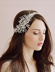 cheap -Crystal Headdress with Flower Comb / Flower 1 Piece Wedding Headpiece