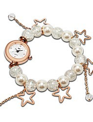 cheap -Women's Bracelet Watch Charm Fashion Silver Rose Gold Polyester Chinese Quartz Silver Rose Gold Cute Adorable 30 m 1 pc Analog One Year Battery Life