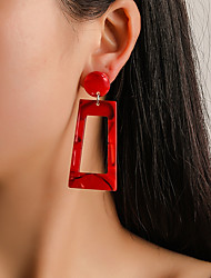 cheap -Women's Drop Earrings Hollow Out Statement Colorful Earrings Jewelry Black / Red / Rainbow For Party Gift Festival 1 Pair