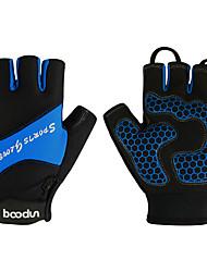 cheap -BOODUN Bike Gloves / Cycling Gloves Mountain Bike MTB Road Bike Cycling Lightweight Breathable Anti-Slip Quick Dry Fingerless Gloves Half Finger Sports Gloves Lycra Mesh Silicone Gel Green Blue Pink