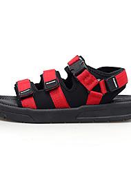 cheap -Women's Sandals Flat Heel Mesh Casual Summer Black / Black / White / Black / Red