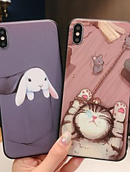 cheap -Case For Apple iPhone XS / iPhone XR / iPhone XS Max Frosted / Pattern Back Cover Animal / Cartoon Soft TPU