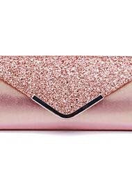 cheap -Women's Bags PU Leather Evening Bag Solid Color Glitter Shine Party Event / Party Evening Bag Wedding Bags Handbags Black Blushing Pink Gold Silver
