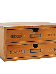 cheap -Storage Box Wooden Antique 1 Storage Box Household Storage Bags